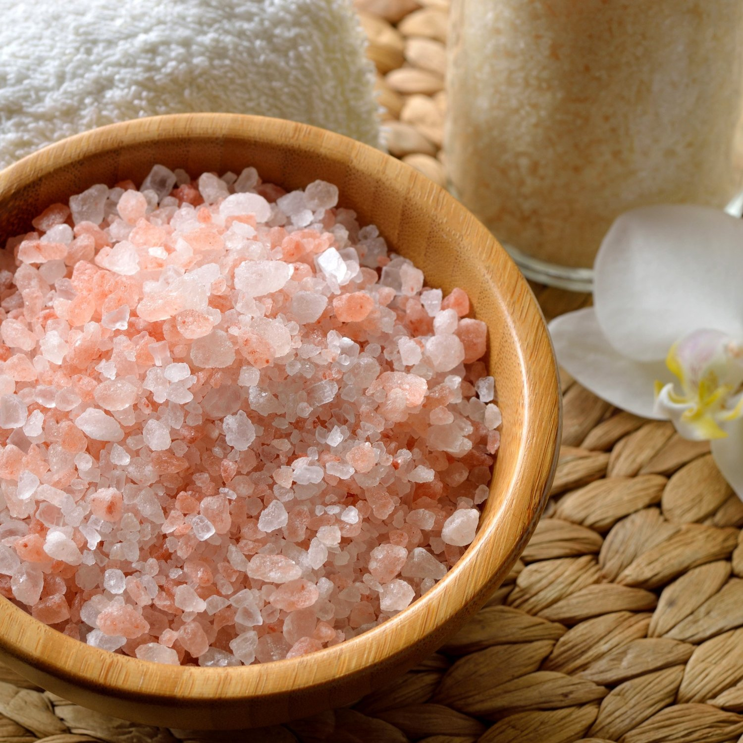 Himalayan & Dead Sea salts glow